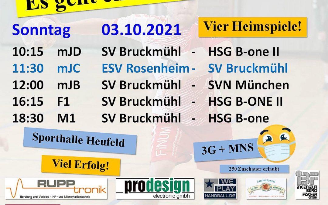 Saisonbeginn bei Bruckmühls Handballern