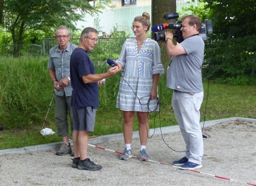Regional Fernsehen Oberbayern zu Gast bei den SVB Boule-Fans