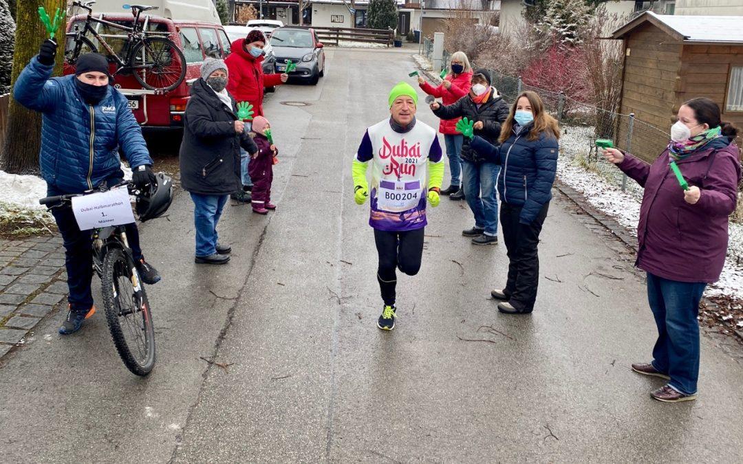 Peter Jüstel – Marathonläufer – Virtual Dubai Halbmarathon – ein tolles Erlebnis