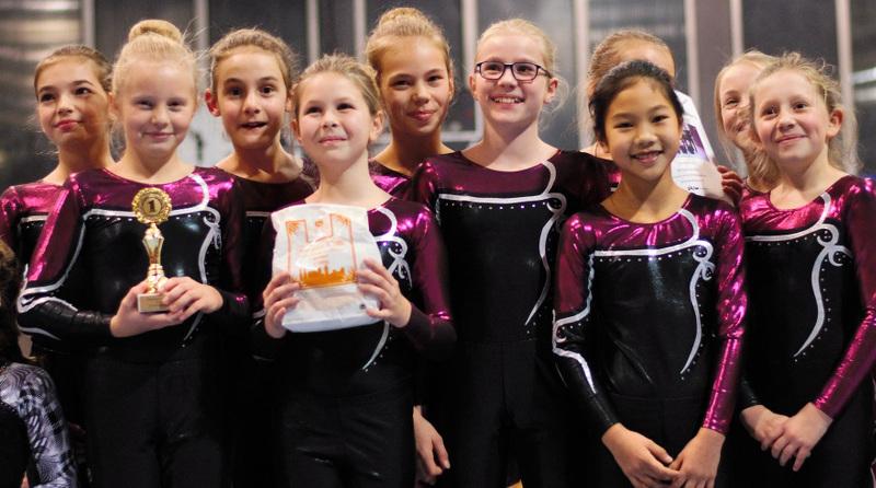 Erfolgreiche junge Turnerinnen