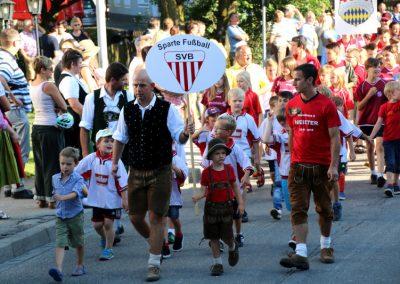 Volksfest Bruckmuehl, Einzug Sparte Fussball