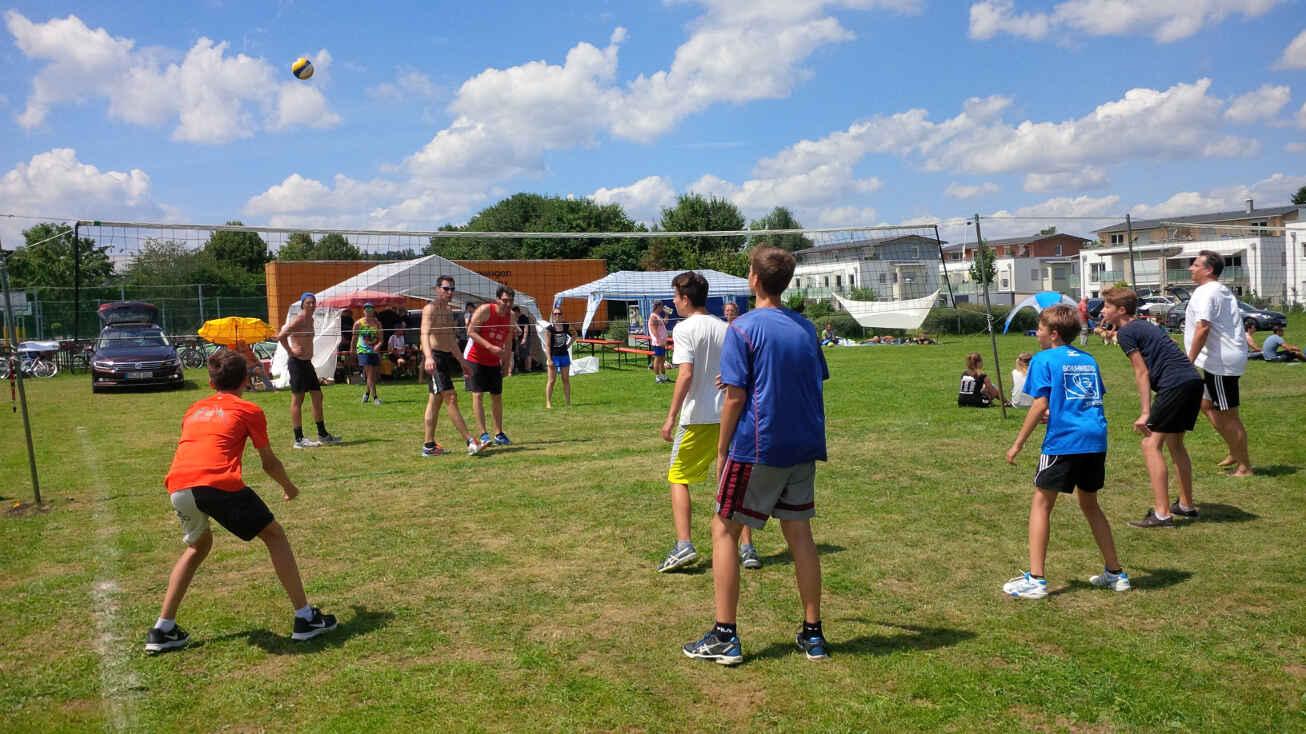 Volleyball-Turnier Volksfest Bruckmühl 2016